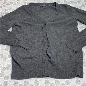 Gap Medium Gray Long Sleeve Button Up Cardigan